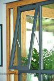 Finestra di alluminio di modello di vendita superiore con l'apertura della tenda