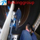 Machine de sablage de mur de tuyaux en acier