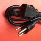 cabo de potência da aprovaçã0 2pin Japão de 1.2m PSE com o plugue do IEC C13