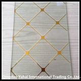 4mm Clear Decorative Glass с Golden Pattern
