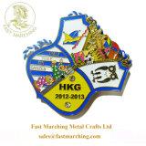 RibbonのカスタムChildrenのFloor Tile Medallion Metal Medal Sports
