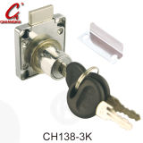 Serrure à tiroirs bureau en laiton à base de zinc en fer (CH139-22)