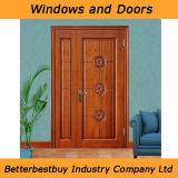 Portello di legno solido dell'entrata con il prezzo acquistabile