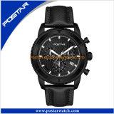 محترف مصنع إمداد تموين [أم] تصميم رياضة ساعة أسود عمليّة تصفيح ساعة