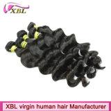 Cheveux vierges brésilien de la trame de Tissage de cheveux humains