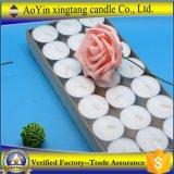 Großhandelspreiswerter Preis 21PCS weiße Tealight Kerzen im Papierkasten