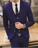 Feito para ternos de medida, 100% de lã Slim Fit Trendy Men Tuits, Fashion Men Dress