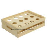 Inserto diviso cassa di legno del bigné non finito (12-Count)