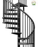 Escalera de madera de acero suave Diseño Spiiral Grill escaleras