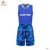 Спортивная одежда Healong баскетбол единообразных пользовательских голубой лучший баскетбол Джерси