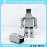 Logo (ZYF1194)の金のMetal Robot USB Flash Drive