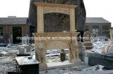 La mano ha intagliato il doppio disegno di marmo del leone di bordi del camino (SY-MF254)
