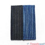 Microfiber durable bleu frottant la lavette à plat humide avec la poche