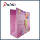 210g 인쇄된 백색 카드 반짝임은 3D 생일 종이 봉지를 주문을 받아서 만든다