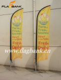 bandeira ao ar livre da pena de 4.5m 100% Aluminium+Fiberglass/bandeira de praia
