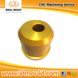 Aluminium CNC Turning Parts mit Gold Anodizing