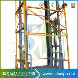 plataforma de la elevación del carril de guía de la vertical inmóvil de los 5m