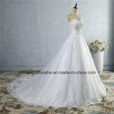 Novo Fundo Lace vestido de noiva Strapless elegante vestido de casamento