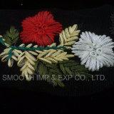Tessile del fiore di modo 3D che assetta il tessuto multicolore del merletto di Embrodiery
