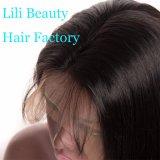 Le parrucche frontali del merletto di bellezza 360 di Lili per le donne di colore pre hanno colto la parrucca svizzera del merletto dei capelli umani di densità diritta brasiliana delle parrucche 150%