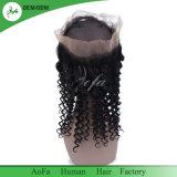 Frontals neri naturali del merletto 360 dei capelli umani per il commercio all'ingrosso