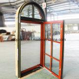 Het Amerikaanse Openslaand raam van het Aluminium van het Eiken Hout