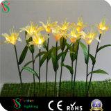 LED de luz de la flor artificial para la decoración de Navidad