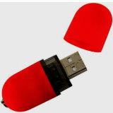 A movimentação vermelha da pena do USB da alta qualidade com logotipo imprimiu (101)