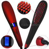 New Arrivée Corée Design LCD Ionic Hair Straightener Brush Digital Hair Iron Peigne Nasv Hair Straightener Brush pour usage personnel