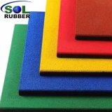 L'extérieur anti-statique de couleur vive tuile de tapis de sol en caoutchouc