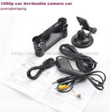 Grand angle 180 degrés HD 1080P double voiture voiture DVR pour voiture Traveling Black Box Camera