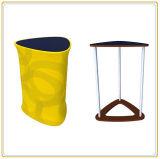 Ausstellung-Förderung-Tisch-Spannkraft-Gewebe-Kostenzähler-Tisch (dreieckige Art)