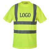 Personnaliser à manches courtes col rond blanc hi vis monter de la sécurité de réflexion Dir T Shirt Design