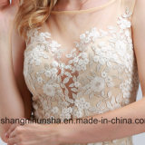 Мантия выпускного вечера Tulle платья вечера шикарного Applique безрукавный сексуальная