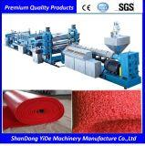 PVC 두 배 색깔에 의하여 살포되는 코일 지면과 차 발 양탄자 플라스틱 생산 라인
