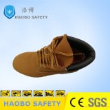 Оптовая торговля дешевые цены желтая защитная обувь со стальным носком и стальную пластину