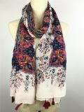 Écharpes minces d'impression du type 100%Cotton de voile de mode fraîche chaude d'été longues