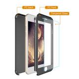Più nuovi cassa/coperchio duri sottili protettivi completi del telefono delle cellule del PC da 360 gradi con il coperchio del PC di vetro Tempered per il iPhone 7