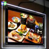 A1超薄いLEDの端のLitの水晶写真フレームは装飾的な印を照らす