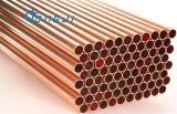 Baja de tubos y aletas de cobre sin fisuras para Evaperators, condensadores
