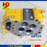 6D125 (6151-11-1102) Tête de cylindre pour pièces de rechange de moteur à excavatrice diesel