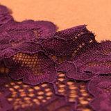 Кружевной ткани из полиэстера черного цвета