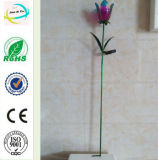 금속 정원 훈장 태양 가벼운 정원 지팡이 야드 지팡이