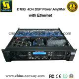 Amplificador profesional del poder más elevado de D10q 4CH Digitaces DSP con Ethernet