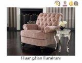Sofa-Möbel-büscheliger Lehnsessel-hölzerner Sofa-Stuhl (HD741)