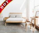 カシのベッドのドレッシングの立場夜立場のホーム寝室セットの木の家具