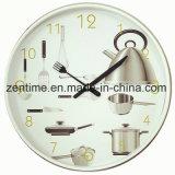 L'horloge murale avec fond de photos dans le design chaud pour la décoration intérieure