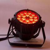 防水18X10W RGBW PAR64 LEDの屋外の同価ライト