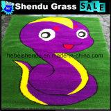 Tapijt van het Gras van het Karton van het Latex SBR het Steunende Kunstmatige met Veelkleurig