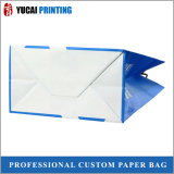 bolsa de papel blanca de 120g Kraft con la insignia para la venta